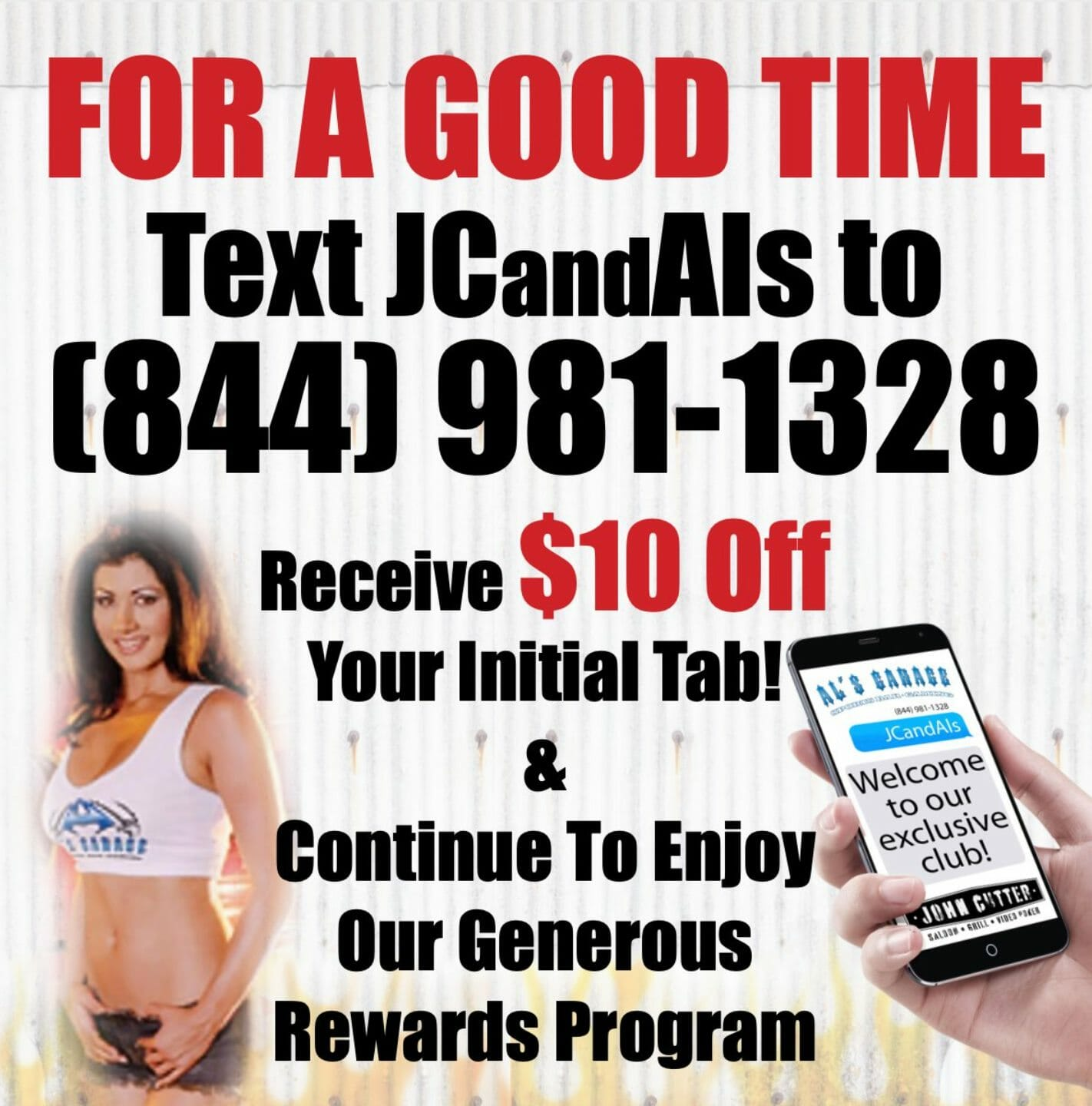 Image for Text Message Program at John Cutter and Al's Garage